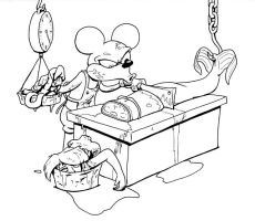 Mickey Chef BW by drakered