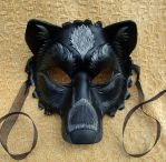 Black And Silver Wolf Mask by merimask