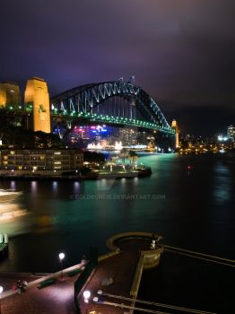 Night Sydney Harbour I by ColdBundie