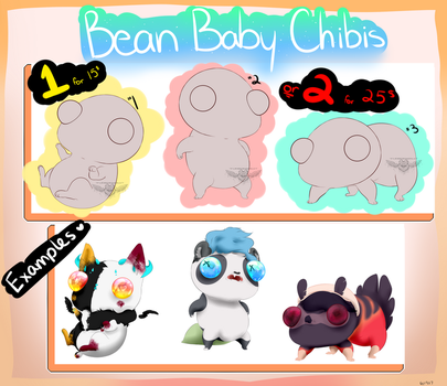 Bean Baby Chibis YCH (OPEN) by TwoSidedViolet