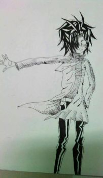 A mysterious character that i made..... by Hikaru69dmc