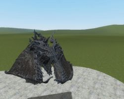 Glitched up Alduin by Dragonrage19