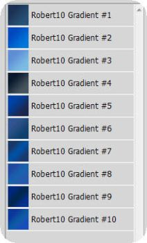 Blue Gradients Pack by Robrey10