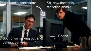 CM- Reading fanfics by Katerinoooz