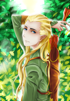 Elf Hidden In The Leaves by super5003