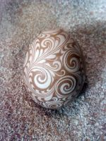 Hand Carved Chicken Egg 2014-1 by greborast