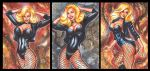 BLACK CANARY PERSONAL SKETCH CARDS by AHochrein2010