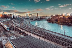 Sunset in Stockholm by olideb08