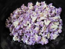 Chopped Purple Cauliflower by Windthin