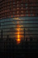 Minsk in the reflection. Morning by Airin-Sunlight