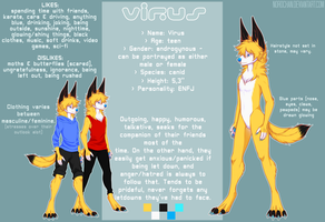 Alter ego VIRUS - Reference sheet by norochan