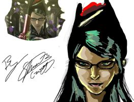 bayonetta_sketch by f-sonic