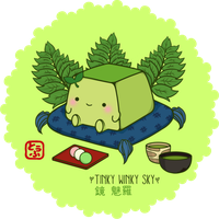 Hannari Green Tea Tofu by TinkyWinkySky