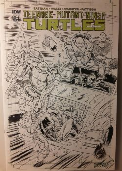 TMNT COMMISSION WIP blank cover finished by UltimateRubberFool