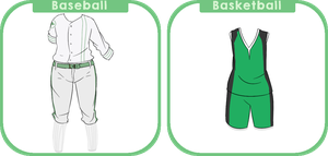 Official Baseball and Basketball club uniforms by MinaBeana