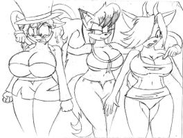 H-virus: Vicky,Clarissa and Zoey by Barn-flakes