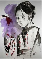Geisha Killer -Watercolor- by LordColinOneal