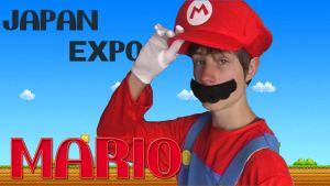 Japan EXPO avec mario by Linebeck18