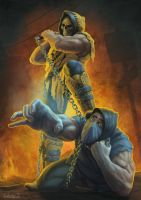 Scorpion and Sub-Zero again by jamqdlaty