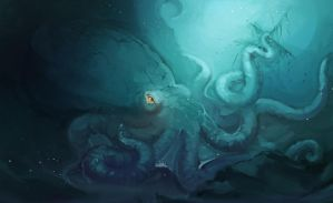 Giant octopus by lenaskampararas
