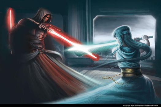 Star Wars - Revan vs Jedi by MaxMade