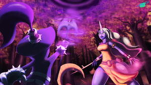 LoL - Soraka Vs. Veigar by Twisted4000