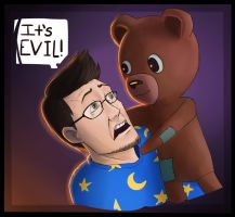 Markiplier and the Teddy by SupremacyRain