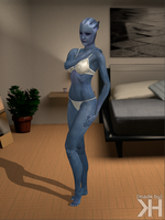 Liara White Underwear (XPS) by Grummel83