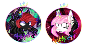 Brookie and Neko - Chibi Head - GiF by NekoMellow