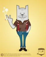 bunny skinhead by NOF-artherapy