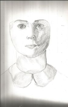 A realistic face [unfinished] by Delaverlii