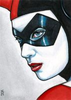 Harley Quinn Sketch Card 1 by veripwolf