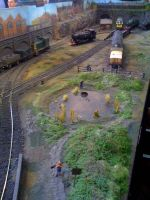 The O-gauge railway layout by YanamationPictures