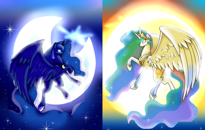 Sun and Moon by TurrKoise