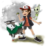 Pokemon Trainer Dipper ART COLLAB with Xanrey by HeroismInACan