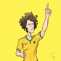 David Luiz by Guinicius