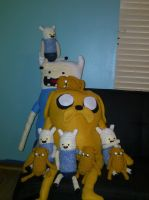 finn and jake pile up by superchibiting
