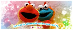 Elmo And CookieMonster by anekdamian
