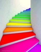 rainbow stairs by Designslots
