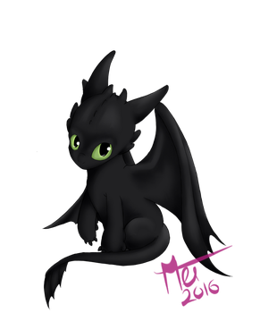 Toothless by omeiku