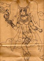 Angelic Girl Sketch by 0Some-weirdGuy0