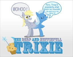 Two in one: The Derp and Muffinfull Trixie by UltraTheHedgetoaster