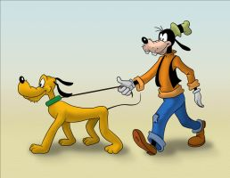 The Goofy and Pluto Conundrum by andydiehl
