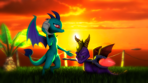 [SFM] Ember and Spyro [What is love?] by ZOomERart