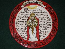 Fairy Tale Plates- The Sleeping Beauty (Front) by Gummibearboy