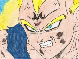 Vegeta close up by Lyndsey-Catastrphe