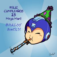 Happy Birthday Mega Man! by heavycarcass