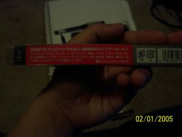 My Tachikawa manga pen (back of case) by Snivy94