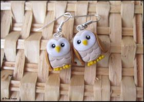 Owls earrings by ThinkSweet