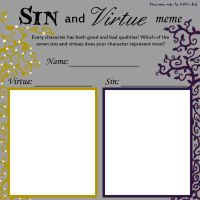 Sin and Virtue meme blank by mystic-blat